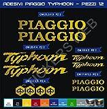 Pimastickerslab Kit Adesivi Stickers Piaggio Typhoon -12 Pezzi- -Scegli Colore- Moto Motorbike cod.0561 (Oro cod. 091)