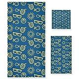 LUPINZ Summer Elements - Juego de toallas de mano y toalla de baño (tres piezas)
