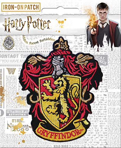 Ata-Boy Harry Potter Gryffindor House Crest Officially Licensed Patch, Pin and More!