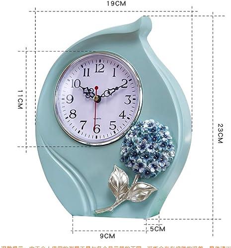 WLG Horloge de Style européen de Bon Coeur, Horloge de séance Moderne Simple, Horloge de Bureau, Horloge silencieuse, Horloge créative de Salon,comme montré,Taille Unique
