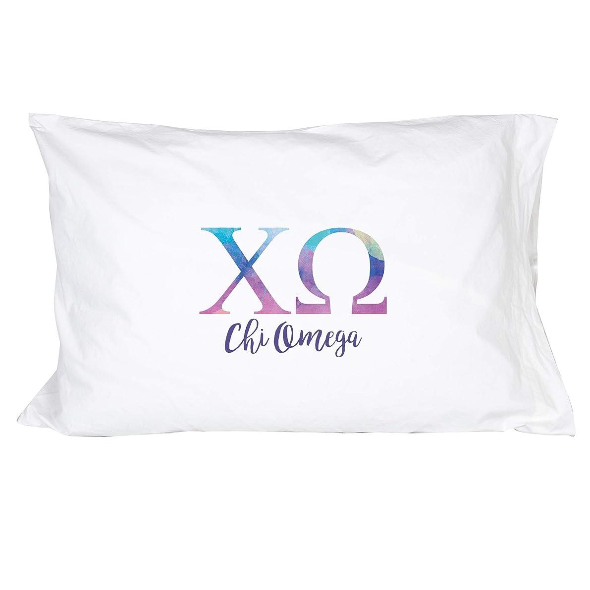 Desert Cactus Chi Omega Sorority Water Color Pillowcase 300 Thread Count 100% Cotton