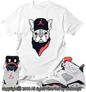 7a2e73c3e19dd8 Custom T Shirt Matching Style of AIR Jordan 6 Infrared Tinker JD 6-10-