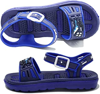 ShoBeautiful Kids Flat Jelly Sandals Boys and Girls Happy Star and Airplane Ankle Strap Summer Water Shoes (Toddler/Little Kid)