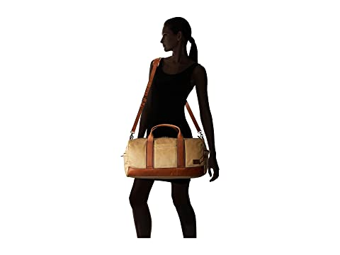Cheap Best Sale Frye Carter Duffel Tan Canvas Buy Cheap Factory Outlet Free Shipping With Paypal KPaq3SU