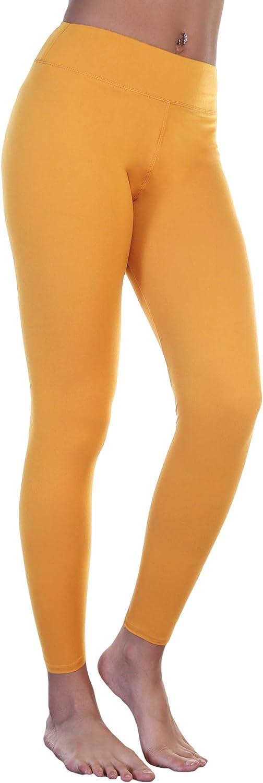 Angelina Women's Microfiber High Waist Full Coverage Cropped or Full Length Legging (6-Pack)