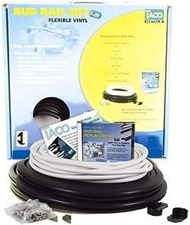 Taco Marine Flexible Vinyl Rub Rail Kits - Flex VNYL R/R KT BLK/WH - 1-1/16 H x 11/16 W x 50' L Black w/Arctic White Insert (V11-0809BWK5)