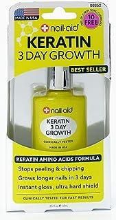 NAIL-AID Keratin 3 Day Growth, Clear, 0.55 Fluid Ounce