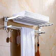 Badkamerruimte aluminium dubbel handdoekenrek Opvouwbaar handdoekenrek Badkamerplank gratis ponsen-50cm