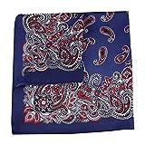 GROOMY Square Scarf, Ethnic Contrast Color Paisley Floral Bandana Head Scarf Women Men Imitation Silk Neckerchief Sports Cycling Decorative Headband-Purple