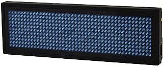 bobotron Affichage numérique LED programmable - Nom de message - Badge d'identification (11 x 44) (bleu)