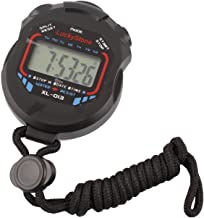 LuckyStone Professional Digital Stopwatch Timer ,Handheld LCD Chronograph Water Resistant..