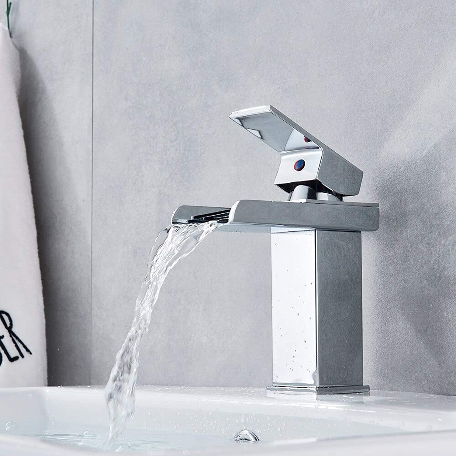 Waterfall Basin Faucet Chrome gold Brushed Nickel orb Polished Deck Mount Bath Sink Faucet Hot Cold Mixer Tap