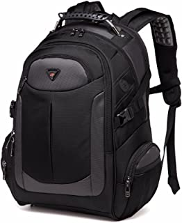 Laptop Backpack for Men, with Water Resistant Durable Oxford Casual Travel Business School College Unisex Men Women Fits 17.3 Inch Notebook Computer Tablet, Black by YESO