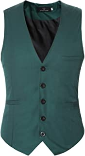 Men's Men's Slim Fit Vests Sleeveless Mens Wedding Modern Casual Solid Waistcoat Men's Men's Vest Suit Business V-Neck