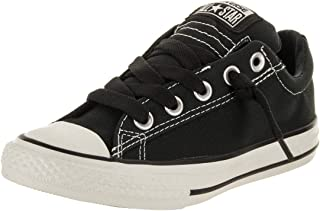 CONVERSE Chuck Taylor Street Low Top Fashion Sneaker Shoe - Black - Boys - 3