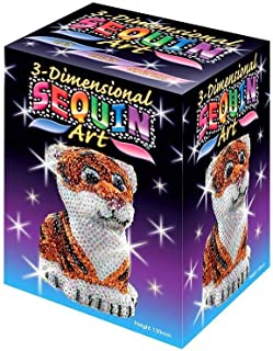 Sequin Art 3D Tiger Sparkling Arts & Crafts Picture Kit
