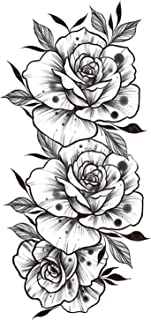 CQHUI Tattoo Sticker Dames Bloem Rose Peony Black Tijdelijke mouw Tattoo Waterdichte Sexy Body Art Fashion (Color : FF85)