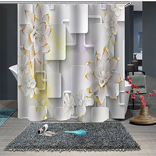 Beddinginn 3D Flower Shower Curtain
