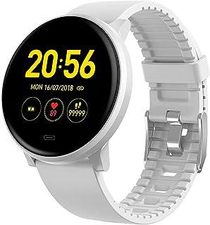 LTLJX Mujer Reloj Inteligente, Fitness Pulsera de Actividad IP67, Monitor de Frecuencia Cardíaca, Sueño, Hombre Podómetro, Notificación para iOS Android Smartwatch,Blanco