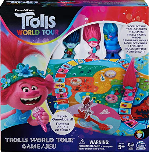Trolls World Tour Cooperative Strategy Board Game for Families and Kids Ages 5 and up