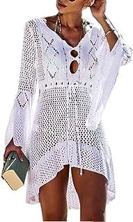 Vestido de Playa - Mujer Pareos y Camisola de Playa Sexy Hueco Traje de Baño Punto Bikini Cover up