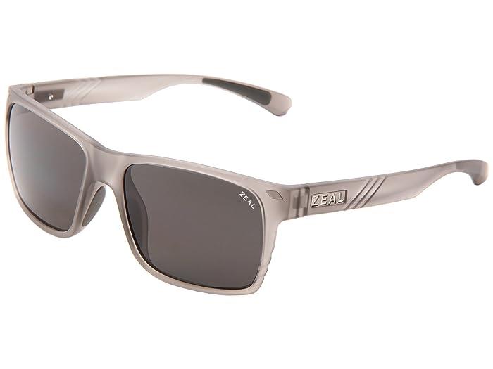 Zeal Optics  Brewer (Granite Grey withDark Grey Polarized Lens) Sport Sunglasses