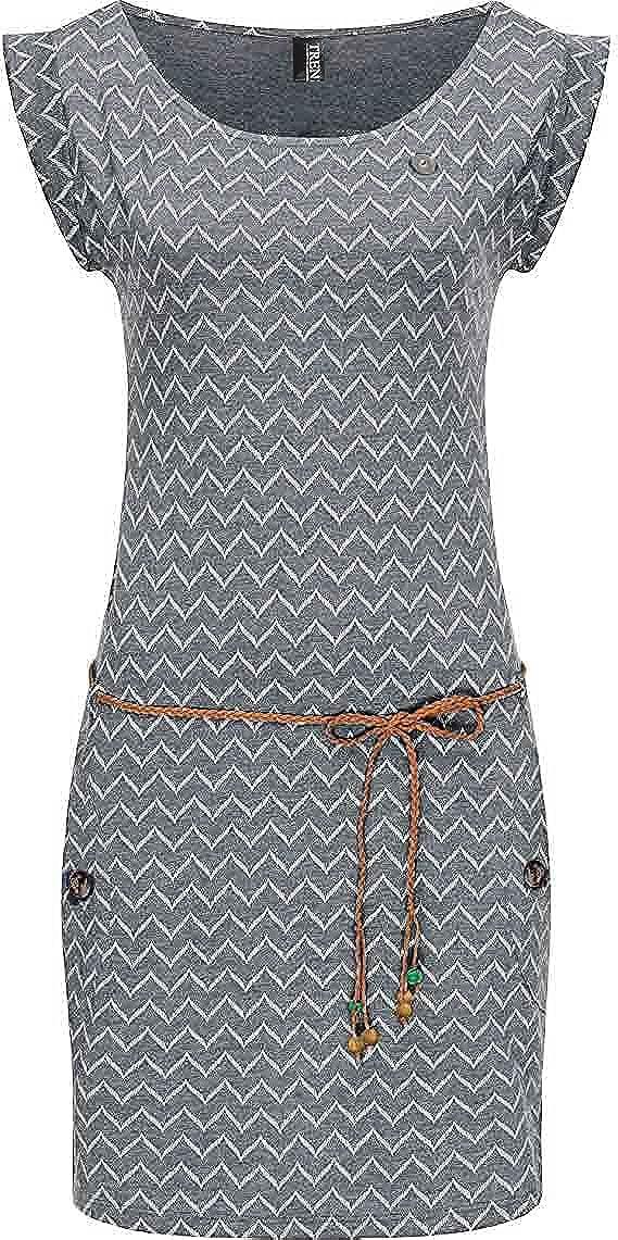 TrendiMax Women's Short Sleeve Casual Pockets Summer Dress Printed T Shirt Dresses