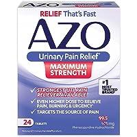 24 Tablets AZO Maximum Strength Urinary Pain Relief