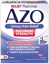 AZO Urinary Pain Relief Maximum Strength   Fast relief of UTI Pain, Burning & Urgency   Targets Source of Pain   #1 Most Trusted Brand   24 Tablets