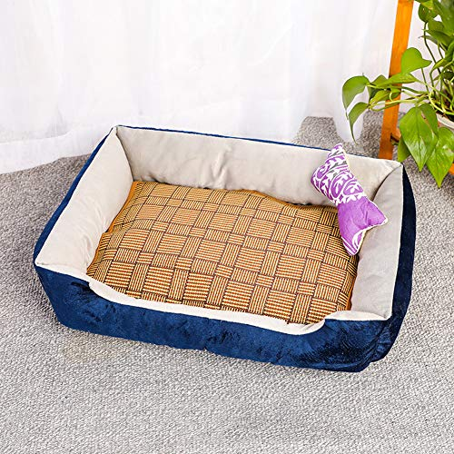 Deluxe hondenmand, wasbaar in de machine antislip pluche kattenkussen met kussens/matten, zachte warme hondenbank voor kleine middelgrote grote honden katten