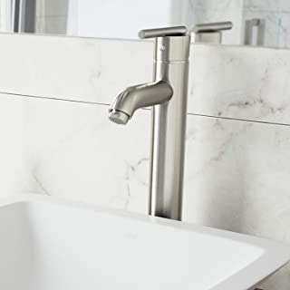vessel sink with faucet