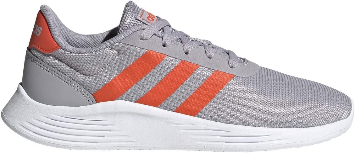 adidas K Lite Racer 2.0 Grey/Solarred Running Shoes (FW2541)