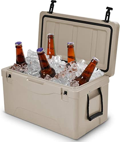 wholesale Giantex new arrival 64 Quart Heavy Duty Cooler Ice Chest Outdoor Insulated Cooler Fishing wholesale Hunting Sports (Grey) sale