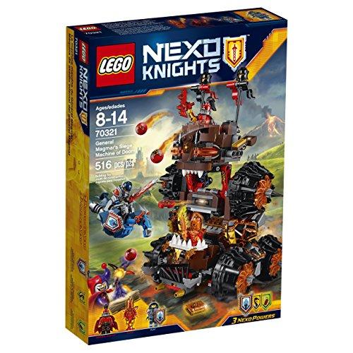 LEGO Nexo Knights 70321 General Magmar's Siege Machine of Doom Building Kit (516 Piece)