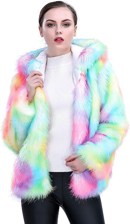 Greneric Women Luxury Winter Warm Fluffy Faux Fur Short Coat Jacket Parka Outwear
