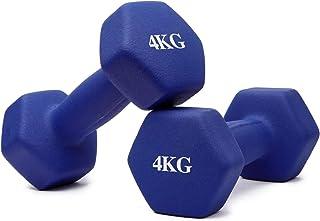 Thinksea ダンベル セット「4組1kg/2kg/3kg/4kg」ダンベルセット ソフトコーティングで、 筋力トレーニング 筋トレ シェイプアップ 鉄アレイ