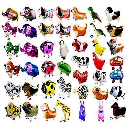 RETON 20 Stücke Tier folienballon Haustiere, Air Walker Ballons, Mylar Folie Helium Aluminium Ballon Kit für Kinder Geburtstag Party Baby Shower Decor Kinder Geschenk