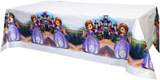 """2pcs Sofia The First Party Tablecloth Plastic Disposable Tablecove for Kids Party Supplies Rectangle Tablecloth 70.8""""x42.5"""""""