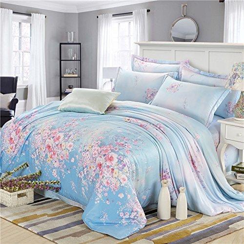 4Sets de literie d'édredon de literie de coton de coton 4 ensembles de couvre-lits ressort et été