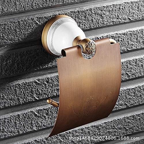 KAIBINY European Copper Base de cerámica del Papel higiénico del Titular Baño Colgante Portarrollos Duradera