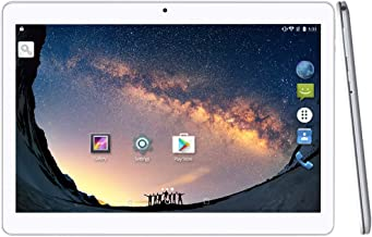 2019 Upgrade - YUNTAB 10.1 inch Android Tablet PC, WiFi/Unlocked 3G Connection, 2GB RAM 16GB ROM, MTK6580 1.3GHz Quad Core CPU, IPS Touch Screen,with Dual SIM Card Slots, Dual Camera (Silver)