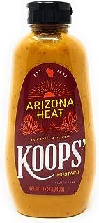 Koop's Arizona Heat Mustard, 12 Ounce Squeeze Bottle (Pack of 3)