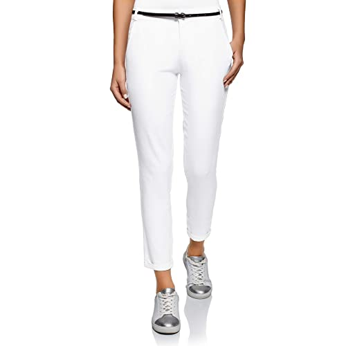 51f9aa06cc10 oodji Ultra Mujer Pantalones Ajustados con Cinturón