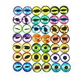Julie Wang Drachenaugen-Cabochons aus Glas, rund, sortierte Größen, 1 Pack/40 Stück, glas, 18 mm