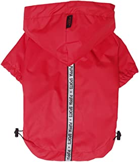 Puppia Authentic Base Jumper Raincoat, 3X-Large, Red