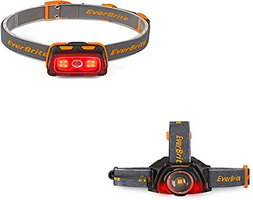 discount EverBrite Headlamp - 300 Lumens Headlight with popular Red/Green Light and Tail Light, 7 Lighting Modes+ LED Rechargeable Headlamp, Zoomable Super Bright online Headlight, 10 Lighting Modes Head outlet sale