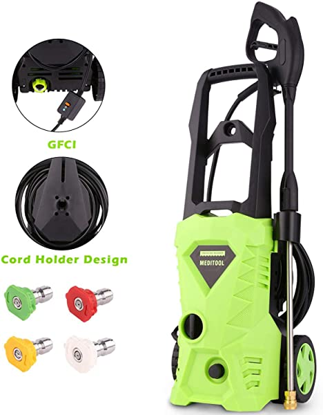 Homdox 2600 PSI Pressure Washer Electric Power Washer 1600W 1 6GPM Powered Cleaner Machine With Power Nozzle Gun