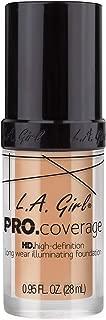 L.A. Girl Pro Coverage Liquid Foundation, Porcelain, 0.95 Fl Oz