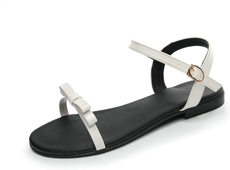 Heat-Tracing Pu Leather Low Heel Summer Fashion Women shoes Platform Buckle All Match Women Sandals