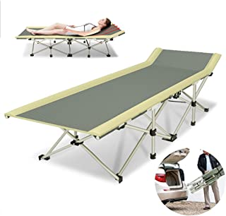 Single Folding Bed Frame,Strong Stable Folding Camping Bed Sun Lounger Cot Portable Guest Bed 1200D Fabric Strong Stable,178 * 64 * 36Cm